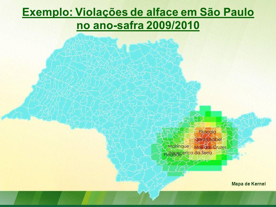 Exemplo: Violações de alface em São Paulo no ano-safra 2009/2010