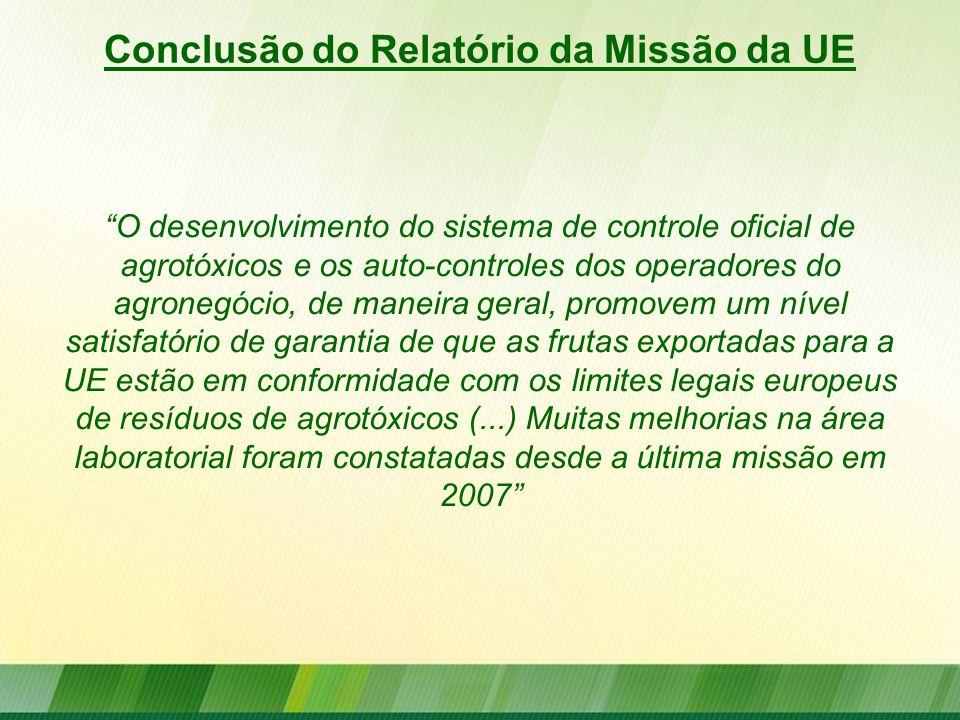 Conclusão do Relatório da Missão da UE