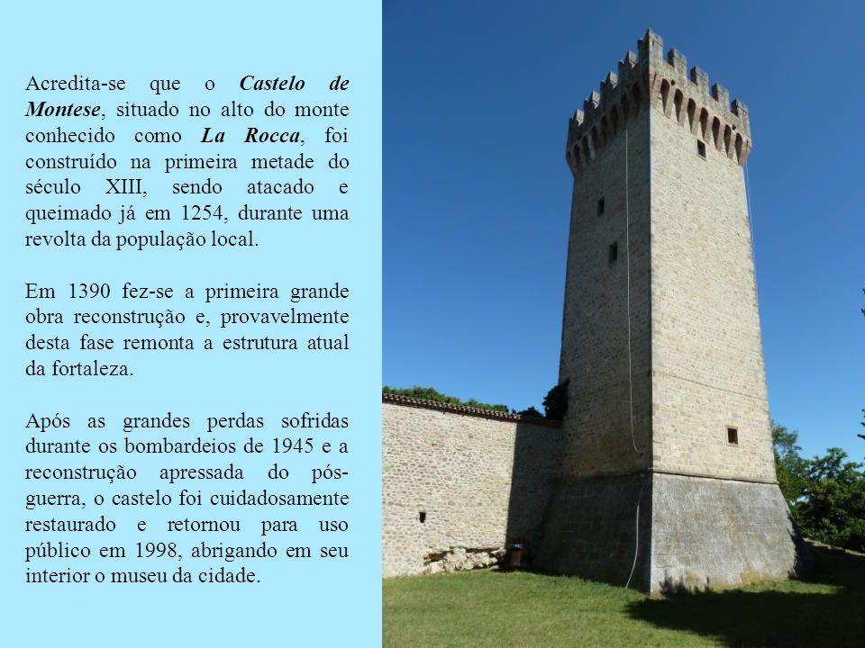 Acredita-se que o Castelo de Montese, situado no alto do monte conhecido como La Rocca, foi construído na primeira metade do século XIII, sendo atacado e queimado já em 1254, durante uma revolta da população local.