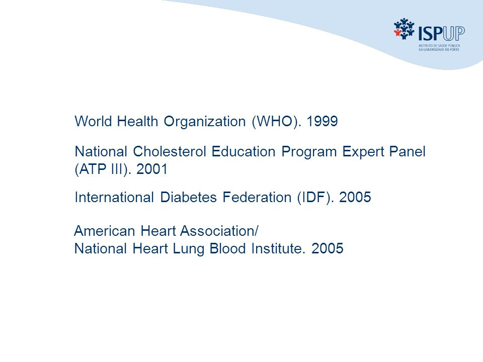 World Health Organization (WHO). 1999