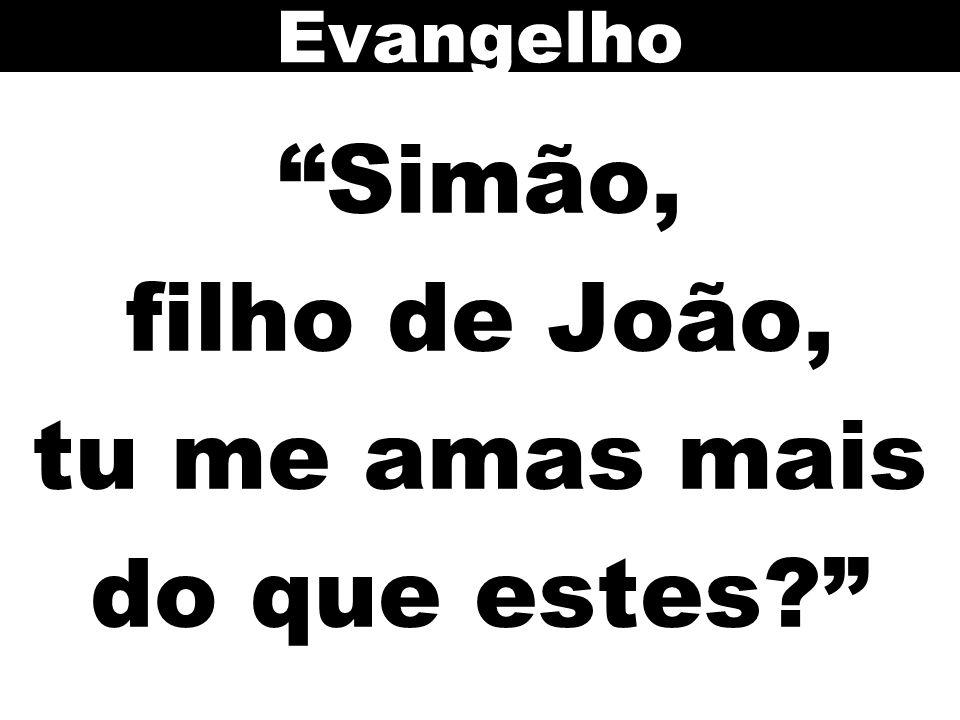 Simão, filho de João, tu me amas mais do que estes