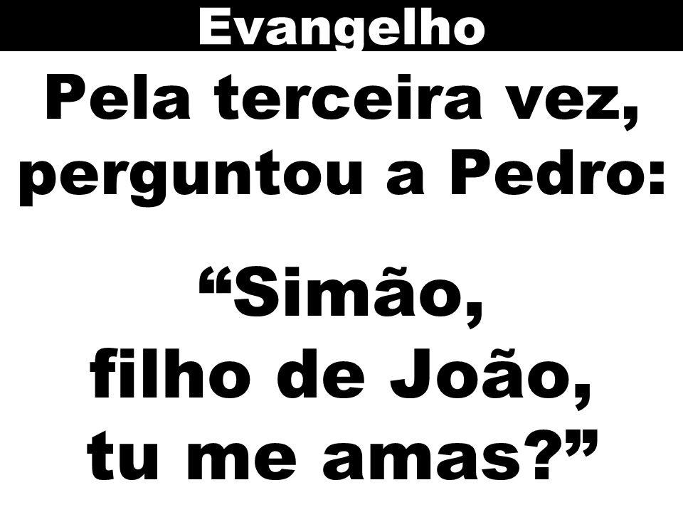 Evangelho Pela terceira vez, perguntou a Pedro: Simão, filho de João, tu me amas