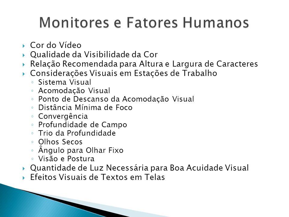 Monitores e Fatores Humanos