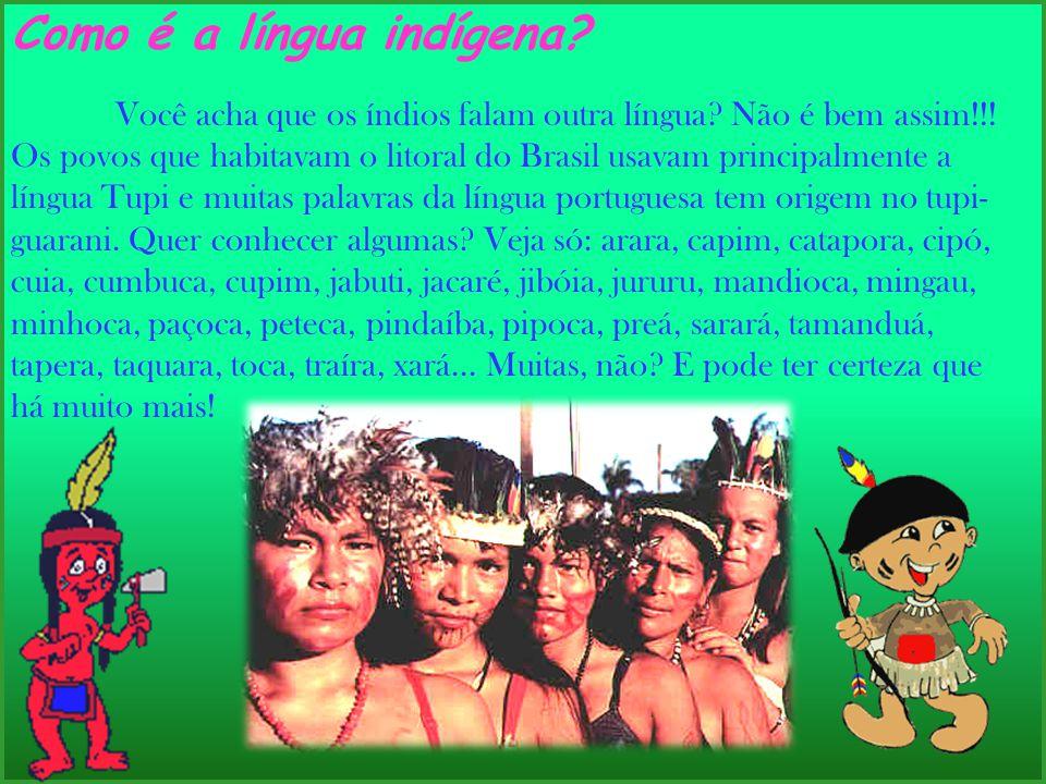 Como é a língua indígena