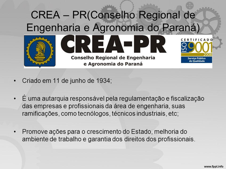 CREA – PR(Conselho Regional de Engenharia e Agronomia do Paraná)