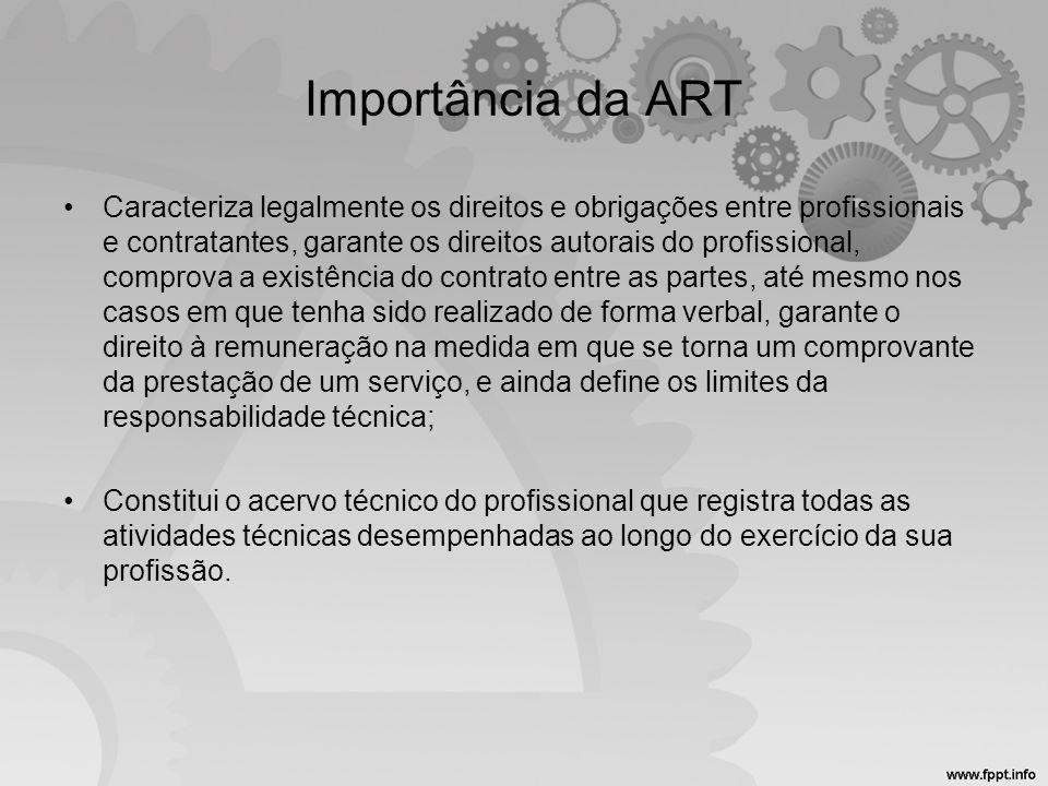 Importância da ART