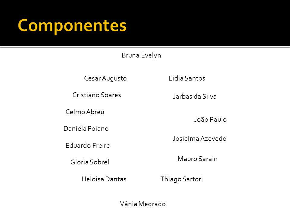 Componentes Bruna Evelyn Cesar Augusto Lidia Santos Cristiano Soares