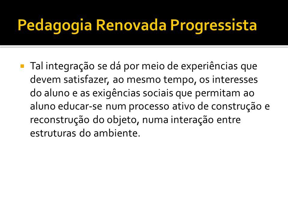 Pedagogia Renovada Progressista