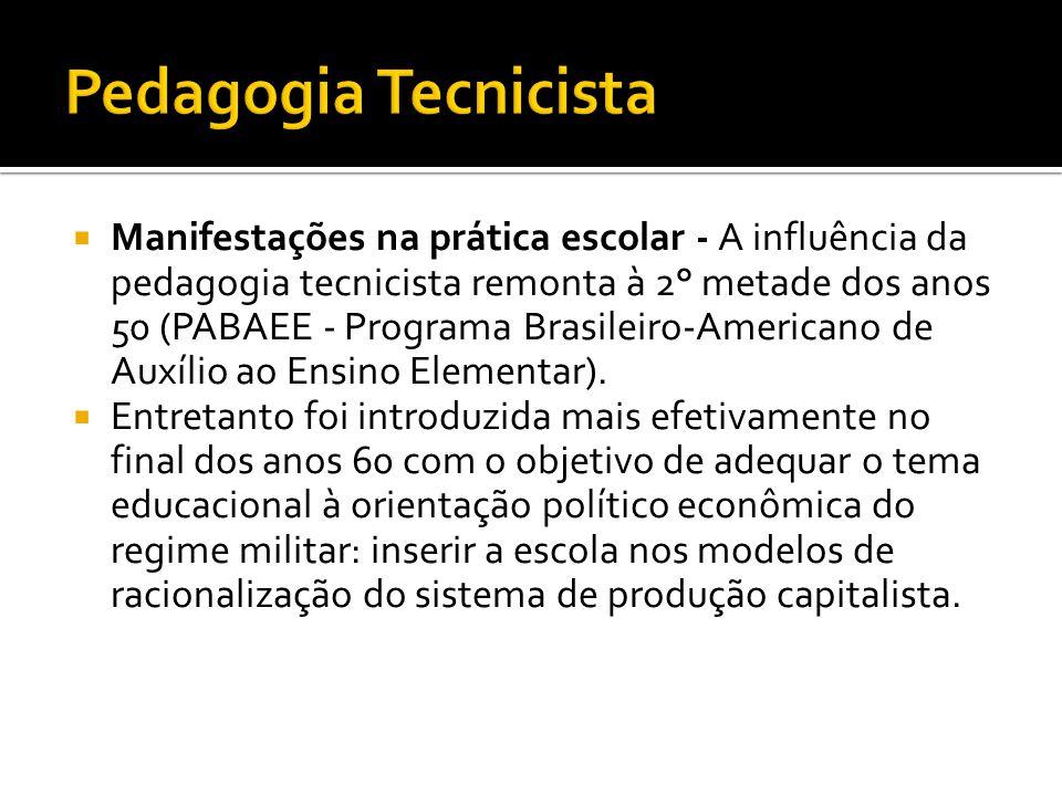 Pedagogia Tecnicista