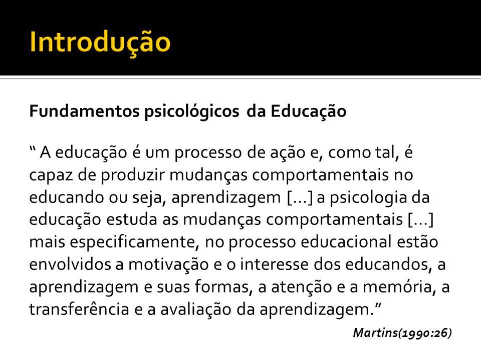 Introdução Fundamentos psicológicos da Educação