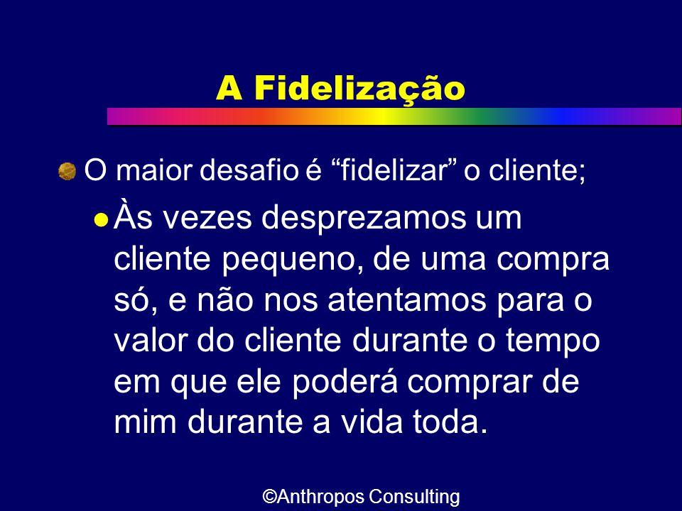A Fidelização O maior desafio é fidelizar o cliente;