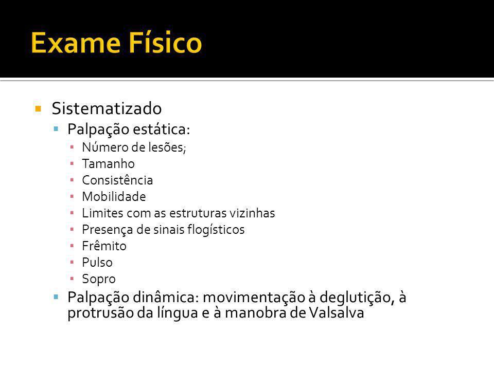 Exame Físico Sistematizado Palpação estática: