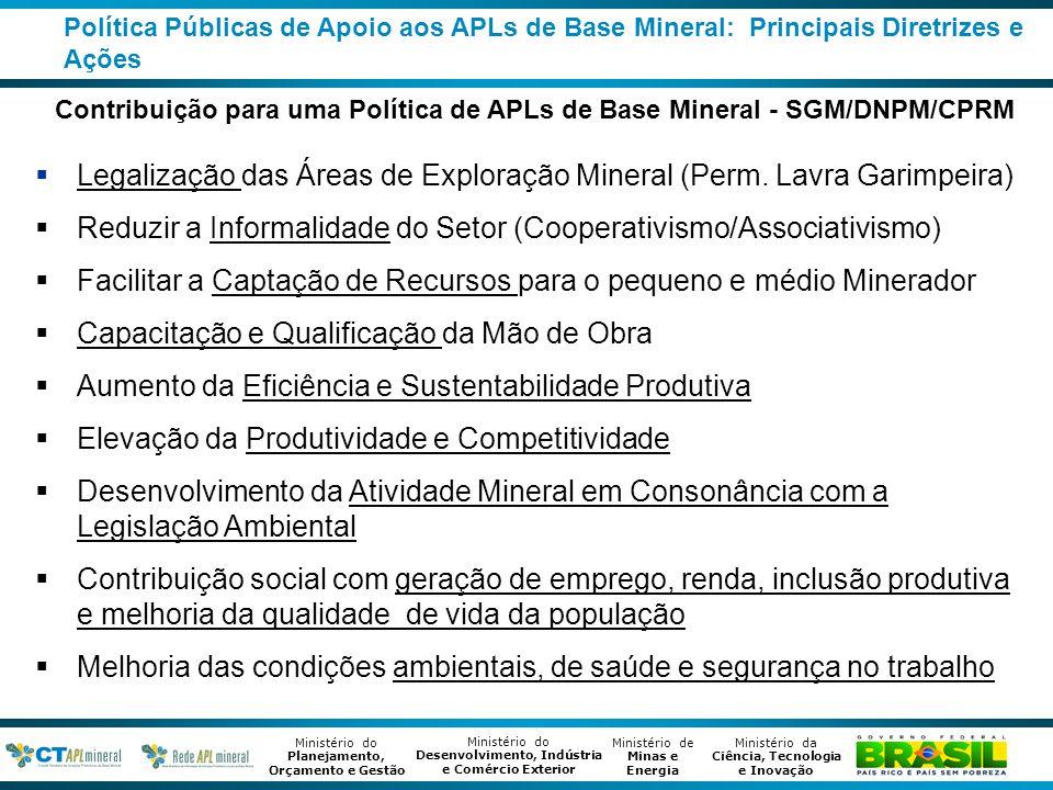 Contribuição para uma Política de APLs de Base Mineral - SGM/DNPM/CPRM