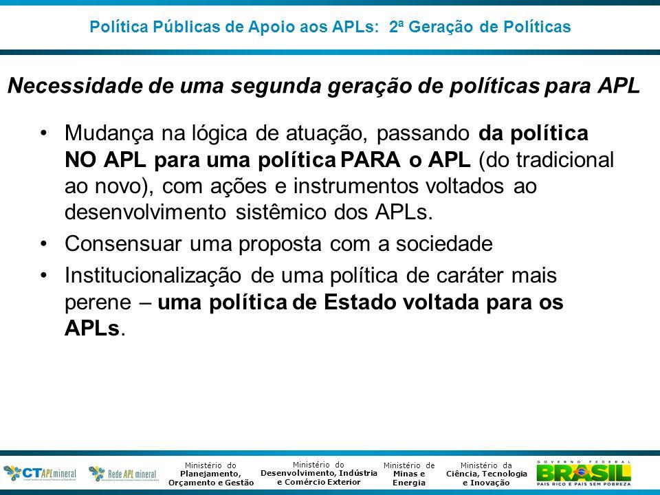 Necessidade de uma segunda geração de políticas para APL
