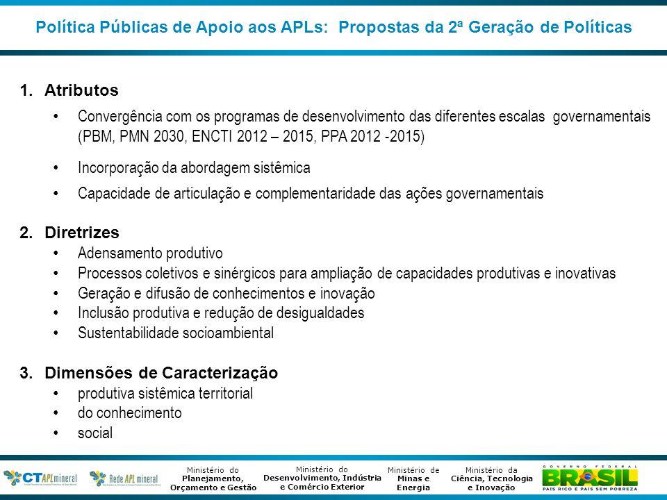 Política Públicas de Apoio aos APLs: Propostas da 2ª Geração de Políticas