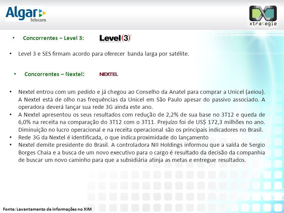 Level 3 e SES firmam acordo para oferecer banda larga por satélite.