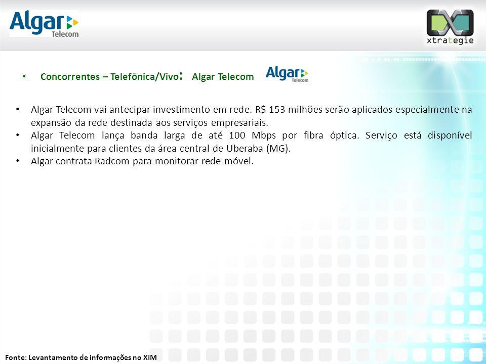 Concorrentes – Telefônica/Vivo: Algar Telecom
