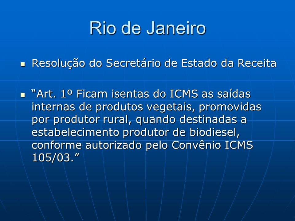 Rio de Janeiro Resolução do Secretário de Estado da Receita