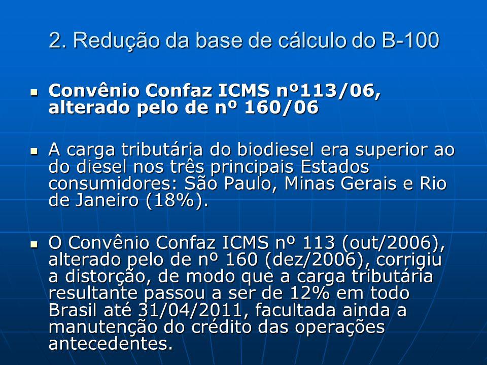 2. Redução da base de cálculo do B-100