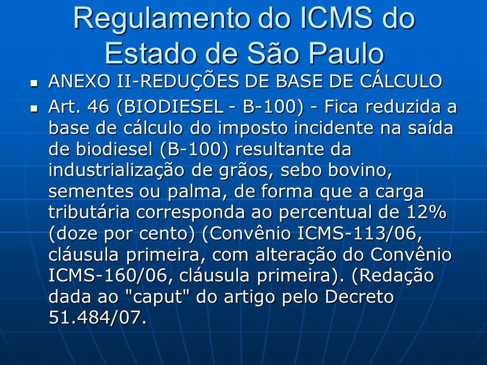 Regulamento do ICMS do Estado de São Paulo