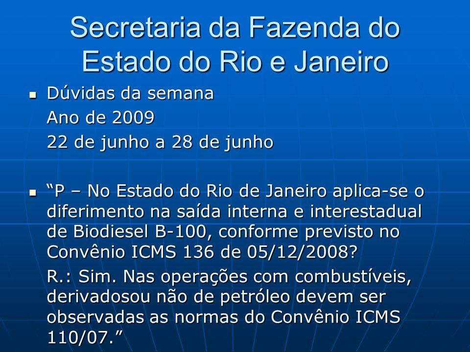 Secretaria da Fazenda do Estado do Rio e Janeiro