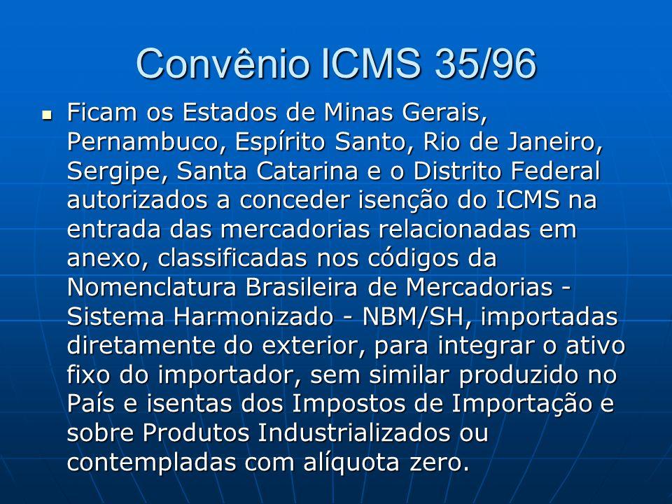 Convênio ICMS 35/96