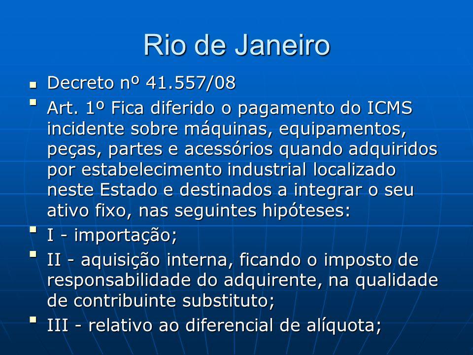 Rio de Janeiro Decreto nº 41.557/08