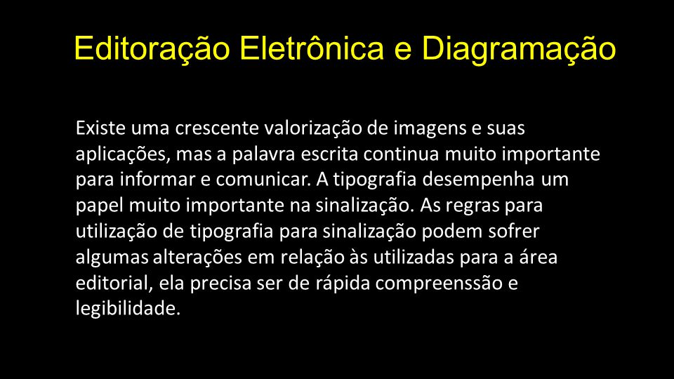 Editoração Eletrônica e Diagramação