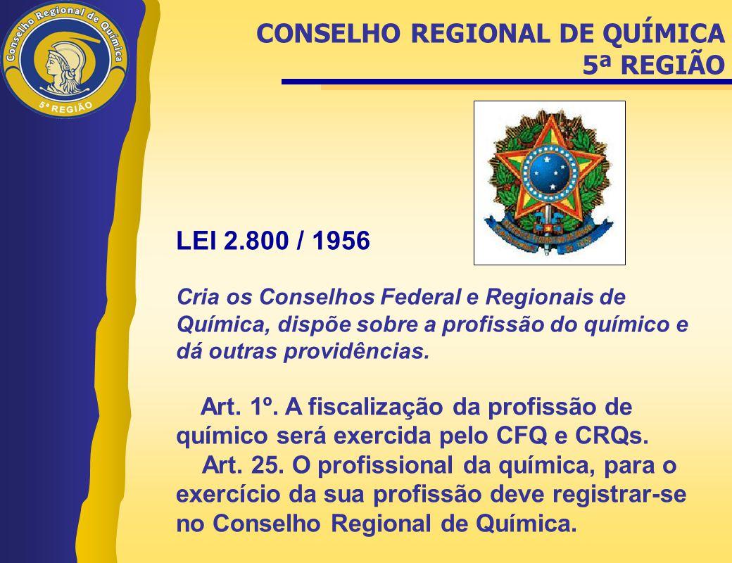 CONSELHO REGIONAL DE QUÍMICA 5ª REGIÃO