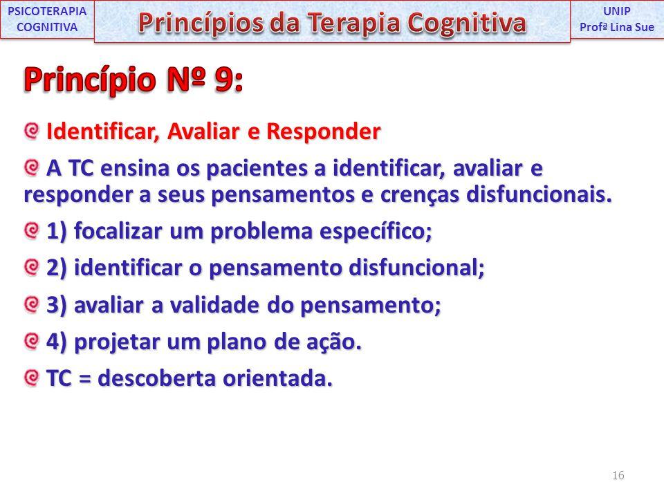 PSICOTERAPIA COGNITIVA Princípios da Terapia Cognitiva