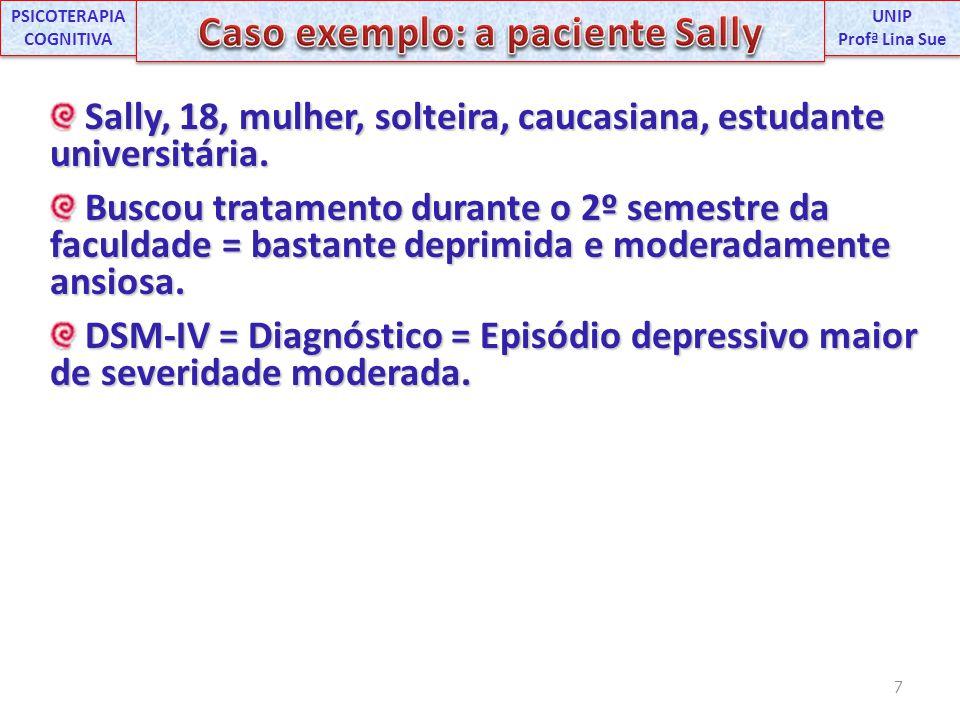 PSICOTERAPIA COGNITIVA Caso exemplo: a paciente Sally