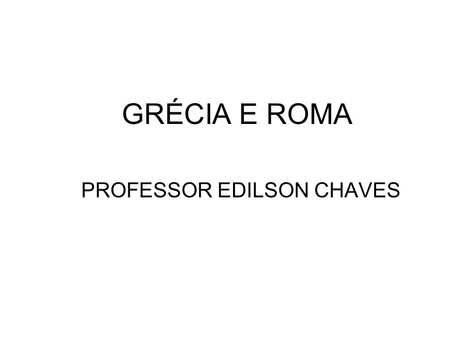 PROFESSOR EDILSON CHAVES