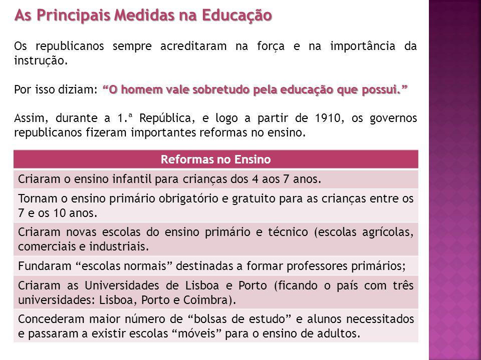 As Principais Medidas na Educação