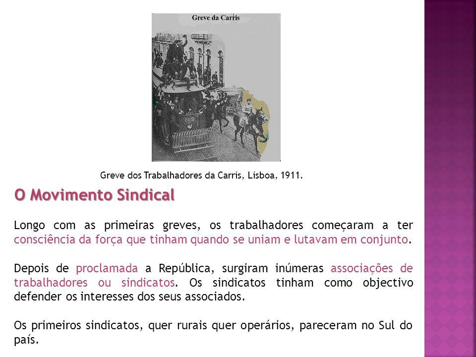 Greve dos Trabalhadores da Carris, Lisboa, 1911.