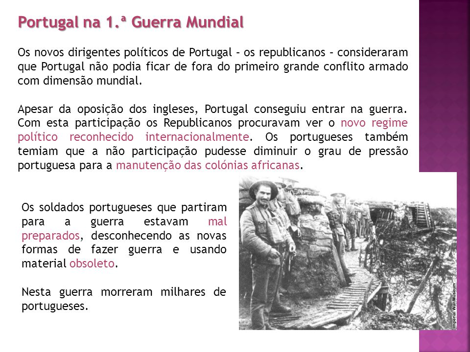 Portugal na 1.ª Guerra Mundial