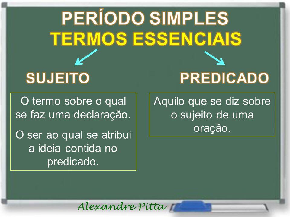 PERÍODO SIMPLES TERMOS ESSENCIAIS