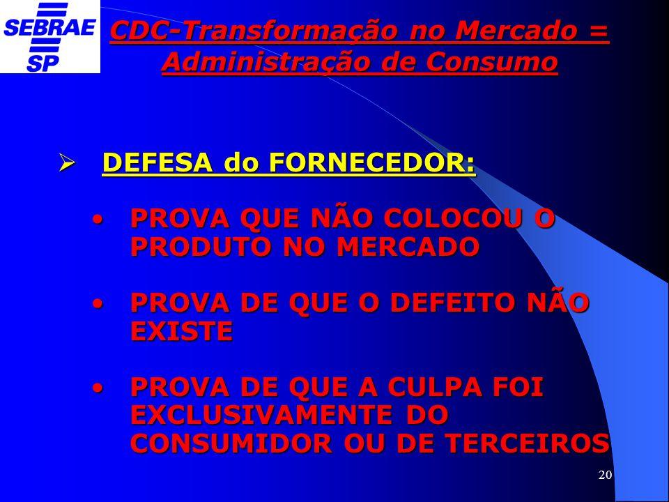 CDC-Transformação no Mercado = Administração de Consumo