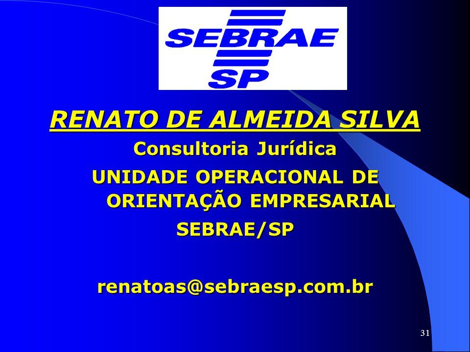 RENATO DE ALMEIDA SILVA UNIDADE OPERACIONAL DE ORIENTAÇÃO EMPRESARIAL