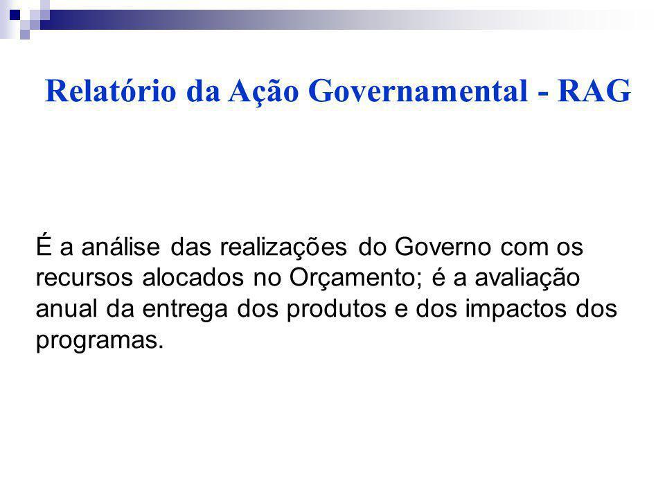 Relatório da Ação Governamental - RAG