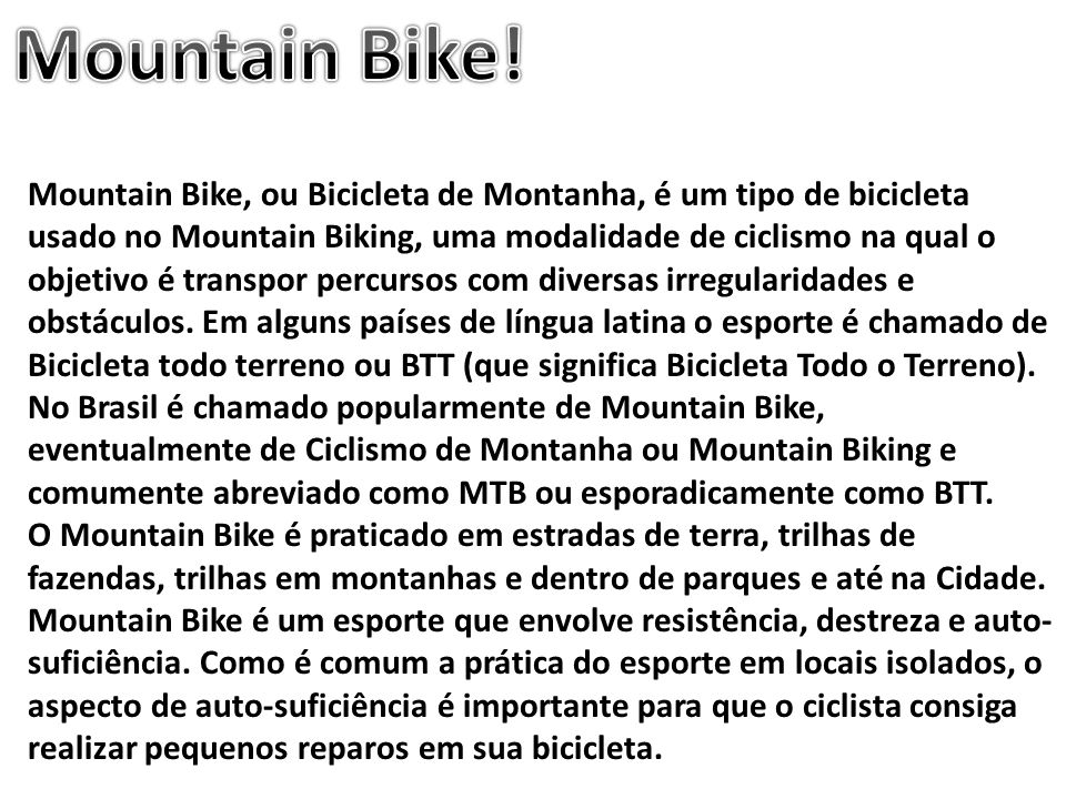 Mountain Bike!