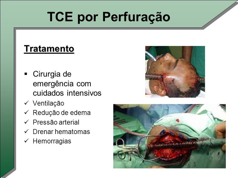 TCE por Perfuração Tratamento