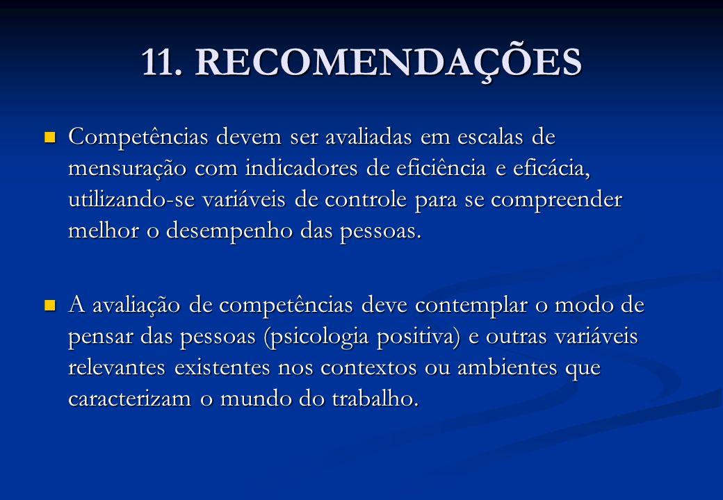 11. RECOMENDAÇÕES