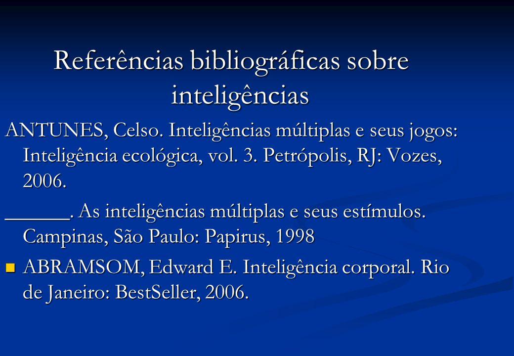 Referências bibliográficas sobre inteligências