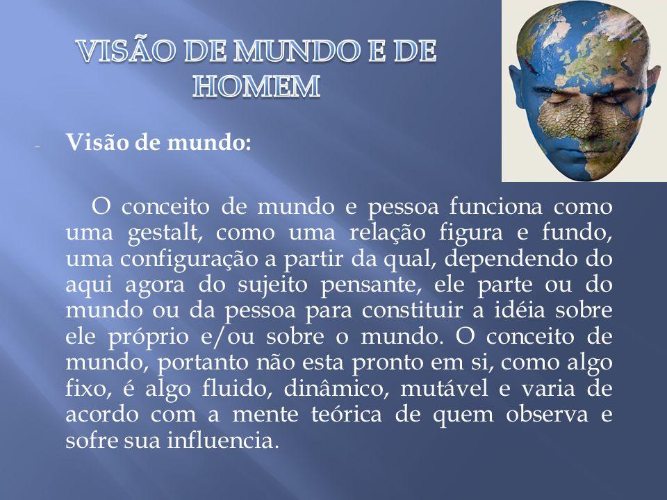 VISÃO DE MUNDO E DE HOMEM