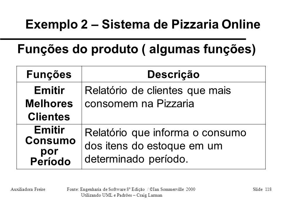 Exemplo 2 – Sistema de Pizzaria Online Emitir Melhores Clientes