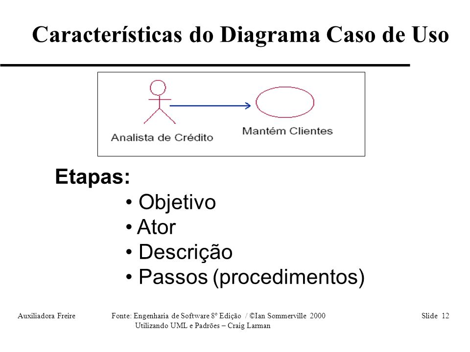 Características do Diagrama Caso de Uso