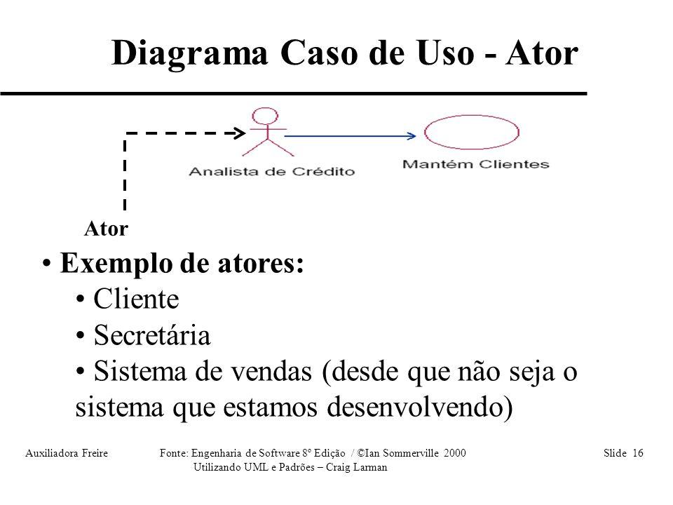 Diagrama Caso de Uso - Ator