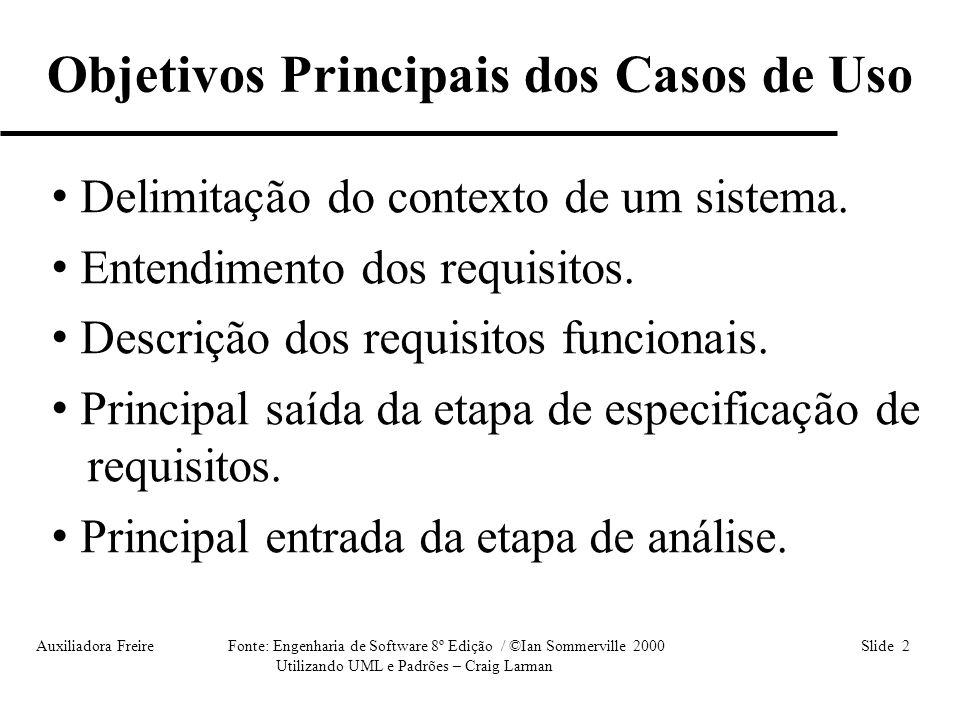 Objetivos Principais dos Casos de Uso