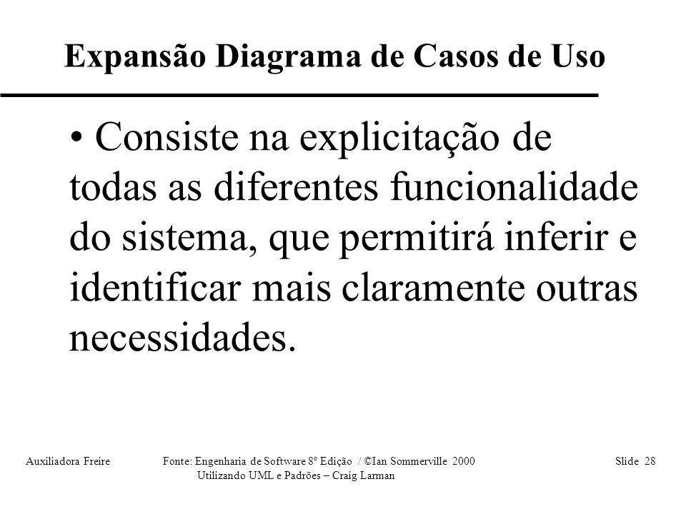 Expansão Diagrama de Casos de Uso