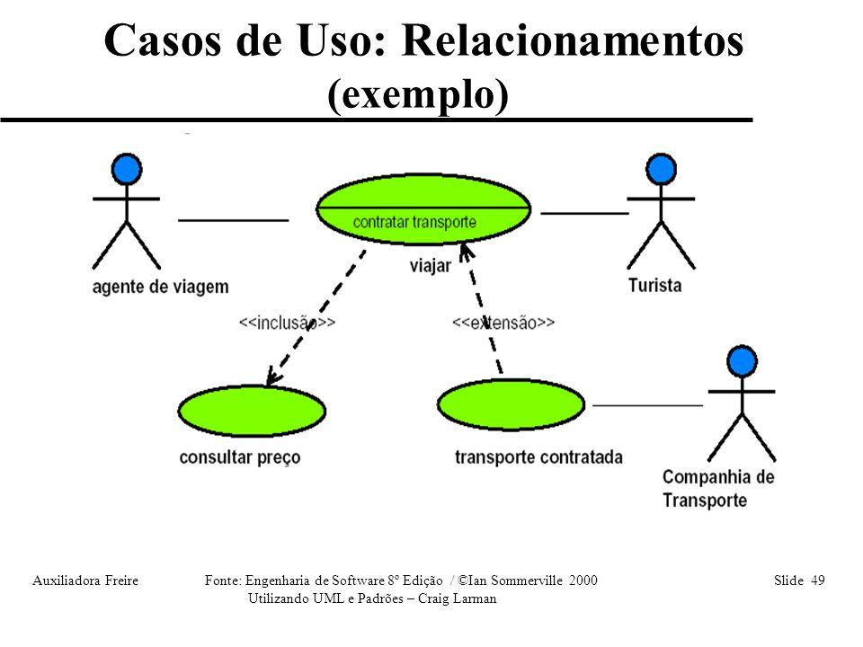 Casos de Uso: Relacionamentos
